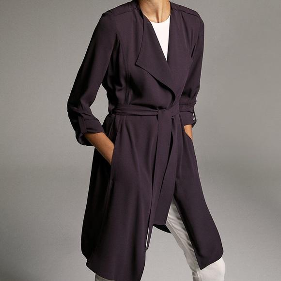 Babaton Jackets & Blazers - Babaton Flowy Black Trench Coat